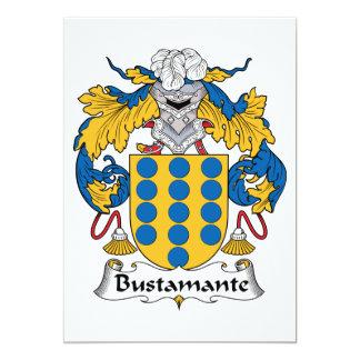 """Escudo de la familia de Bustamante Invitación 5"""" X 7"""""""
