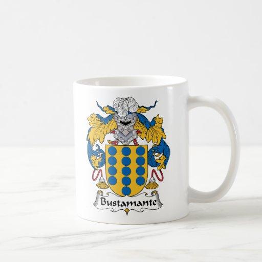 Escudo de la familia de Bustamante Tazas De Café