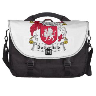 Escudo de la familia de Butterfield Bolsas De Portátil