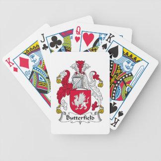 Escudo de la familia de Butterfield Baraja De Cartas