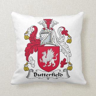 Escudo de la familia de Butterfield Cojín Decorativo