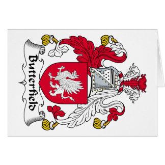 Escudo de la familia de Butterfield Felicitaciones