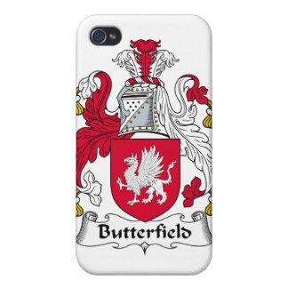 Escudo de la familia de Butterfield iPhone 4 Carcasa