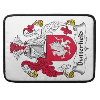Escudo de la familia de Butterfield Funda Para Macbook Pro