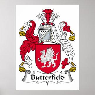Escudo de la familia de Butterfield Impresiones