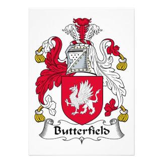 Escudo de la familia de Butterfield Invitacion Personalizada