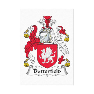 Escudo de la familia de Butterfield Impresiones En Lona