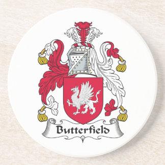 Escudo de la familia de Butterfield Posavasos Manualidades