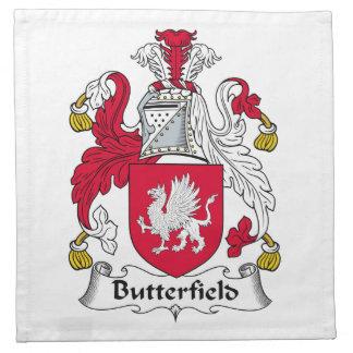 Escudo de la familia de Butterfield Servilletas