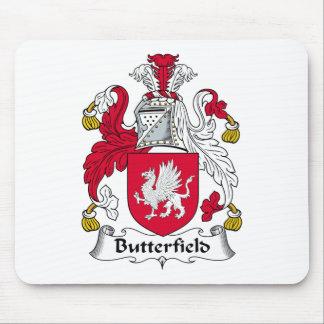 Escudo de la familia de Butterfield Alfombrillas De Ratón