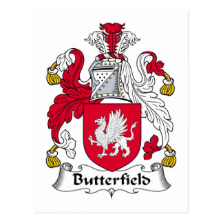 Escudo de la familia de Butterfield Tarjetas Postales