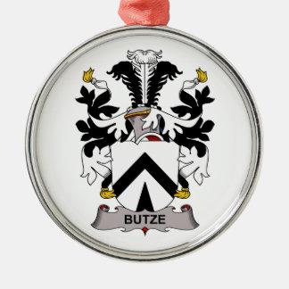 Escudo de la familia de Butze Adorno Navideño Redondo De Metal