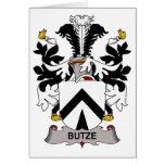 Escudo de la familia de Butze Felicitación
