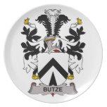 Escudo de la familia de Butze Platos Para Fiestas