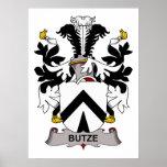 Escudo de la familia de Butze Posters