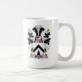 Escudo de la familia de Butze Taza Básica Blanca