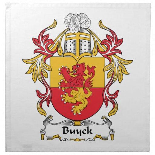 Escudo de la familia de Buyck Servilleta De Papel