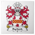 Escudo de la familia de Byrbeck Azulejo Ceramica