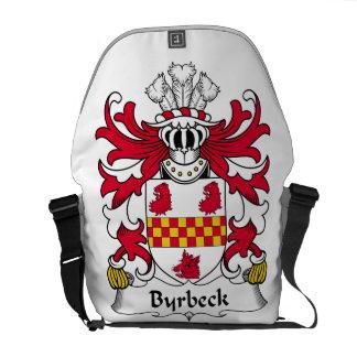 Escudo de la familia de Byrbeck Bolsas De Mensajeria