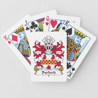 Escudo de la familia de Byrbeck Cartas De Juego