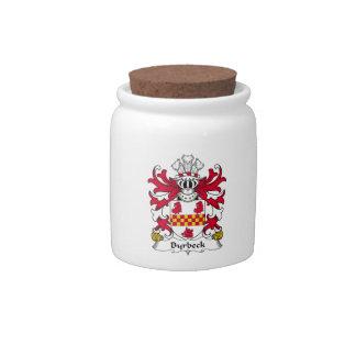Escudo de la familia de Byrbeck Platos Para Caramelos