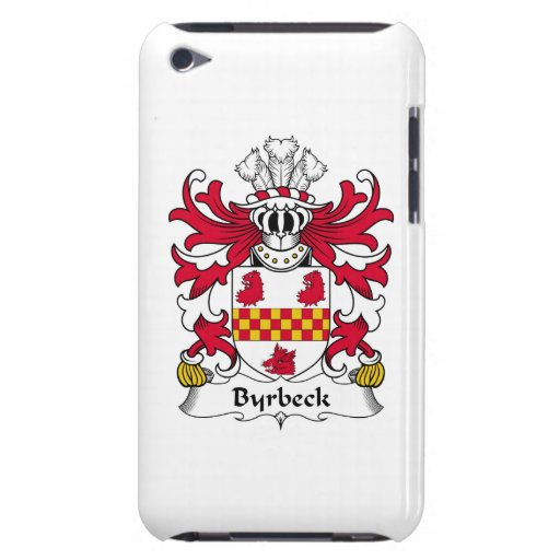 Escudo de la familia de Byrbeck iPod Case-Mate Carcasa