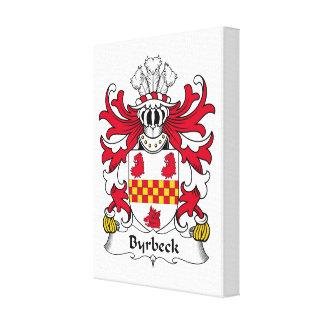 Escudo de la familia de Byrbeck Lienzo Envuelto Para Galerías