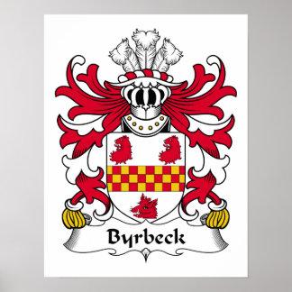 Escudo de la familia de Byrbeck Poster