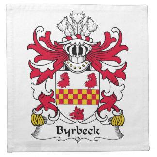 Escudo de la familia de Byrbeck Servilletas Imprimidas