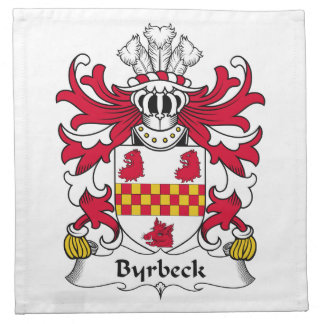 Escudo de la familia de Byrbeck Servilleta De Papel