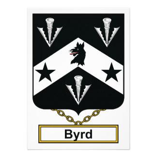 Escudo de la familia de Byrd Invitación Personalizada