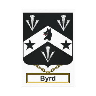 Escudo de la familia de Byrd Lona Envuelta Para Galerias