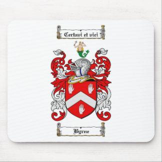 ESCUDO DE LA FAMILIA DE BYRNE - ESCUDO DE ARMAS DE ALFOMBRILLAS DE RATON