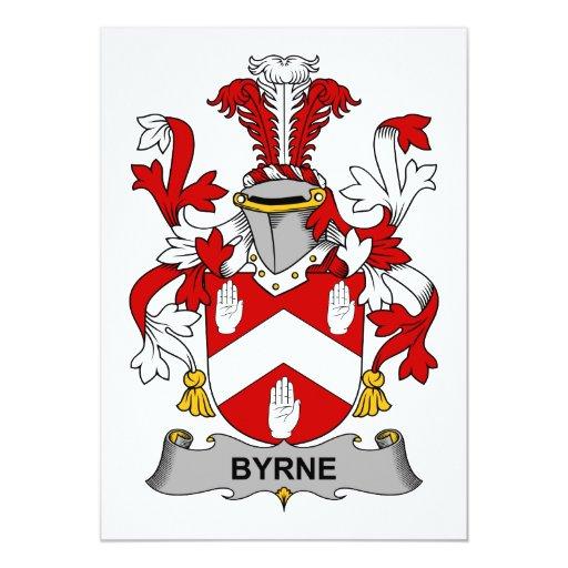 """Escudo de la familia de Byrne Invitación 5"""" X 7"""""""
