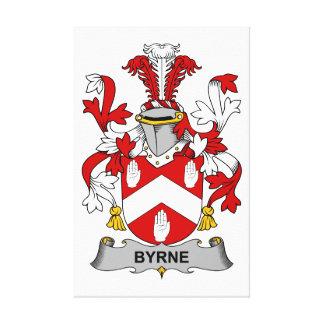 Escudo de la familia de Byrne Impresión En Lienzo Estirada