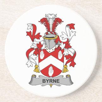 Escudo de la familia de Byrne Posavasos Cerveza