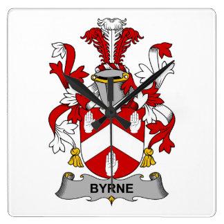 Escudo de la familia de Byrne Reloj