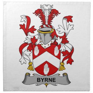 Escudo de la familia de Byrne Servilletas