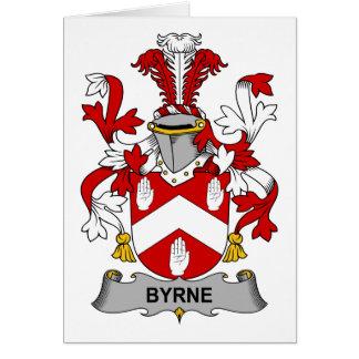 Escudo de la familia de Byrne Felicitacion