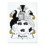 Escudo de la familia de Byron Invitación Personalizada