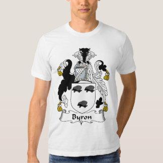 Escudo de la familia de Byron Playera