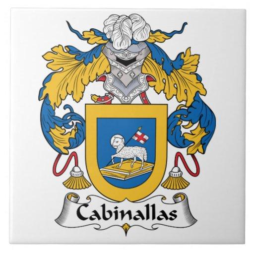 Escudo de la familia de Cabanillas Azulejo Cuadrado Grande