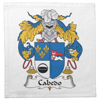 Escudo de la familia de Cabedo Servilletas Imprimidas