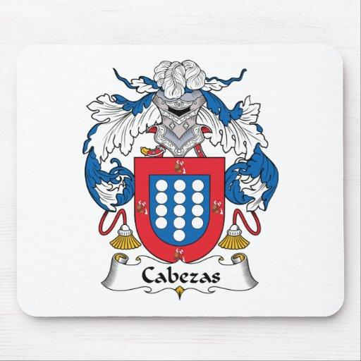 Escudo de la familia de Cabezas Alfombrillas De Ratón