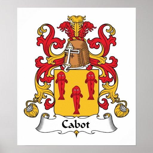Escudo de la familia de Cabot Póster