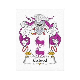 Escudo de la familia de Cabral Impresión En Lienzo