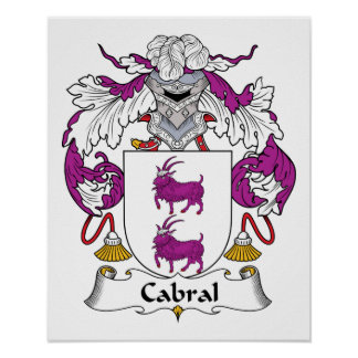 Escudo de la familia de Cabral Póster