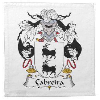 Escudo de la familia de Cabreira Servilleta De Papel