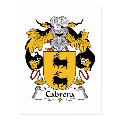 Escudo de la familia de Cabrera Tarjetas Postales