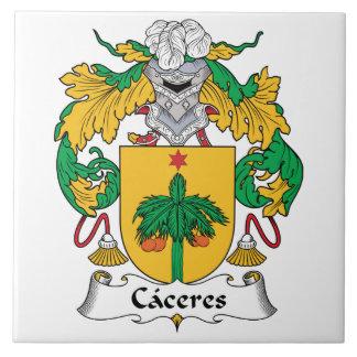 Escudo de la familia de Caceres Teja